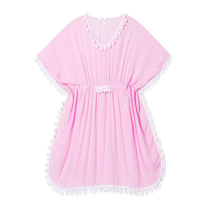 Pink Pom pom Cover up