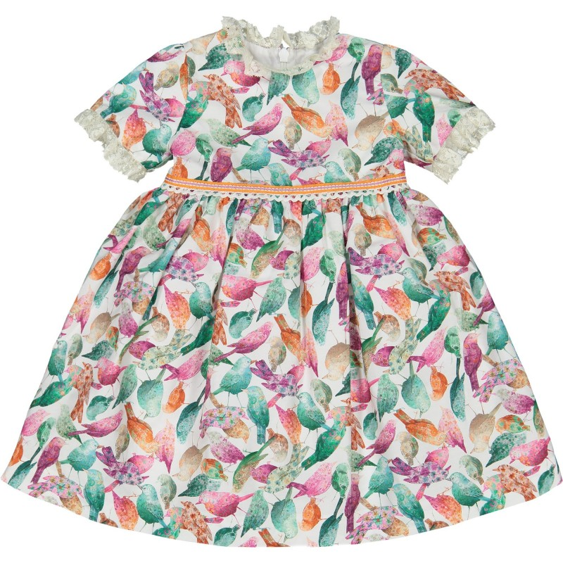 Baby Song Bird Dress & Bloomers Set