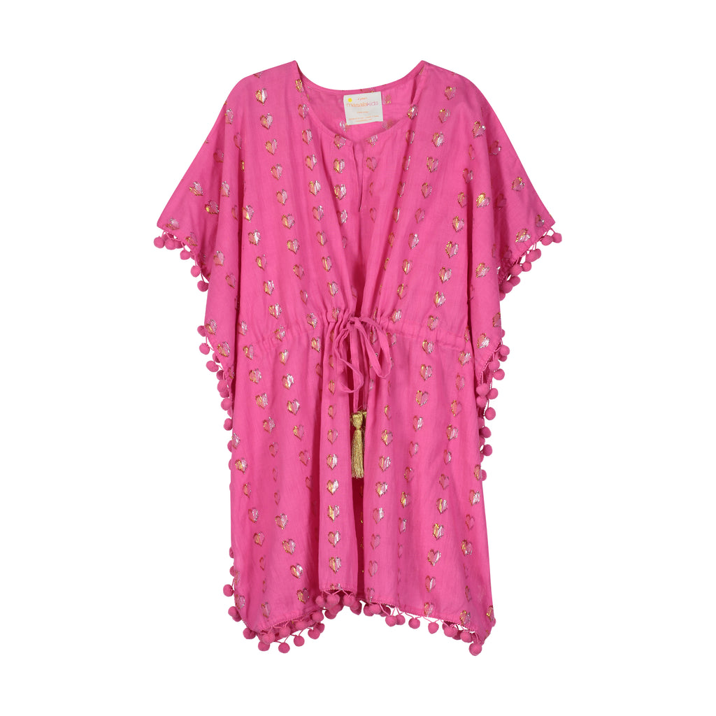 Diu Metallic Heart Pink Cover Up