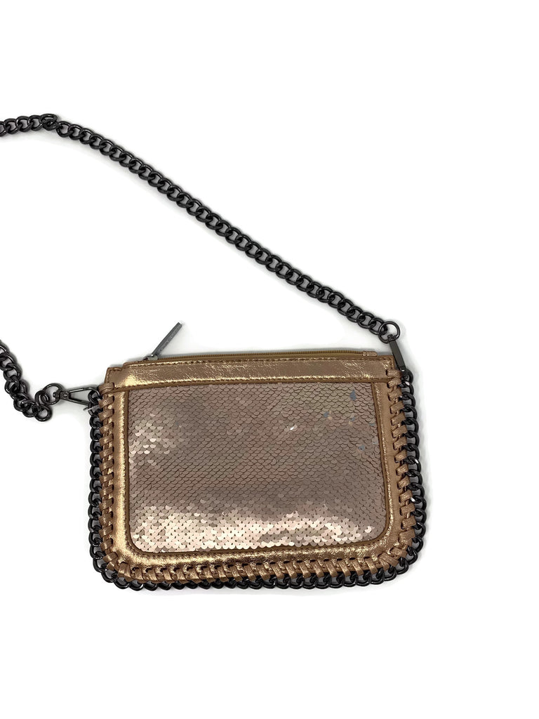 Rose Gold Sequin Shoulder Chain Bag