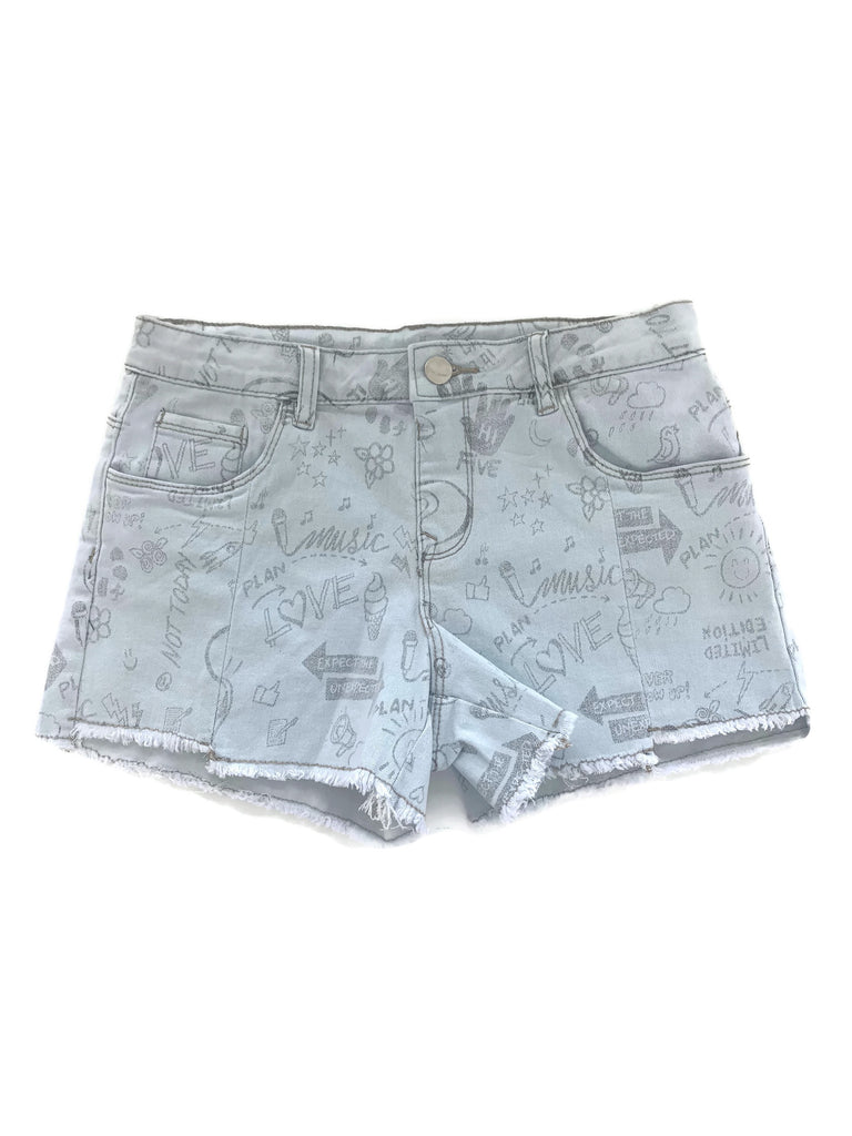 Denim Graffiti Shorts