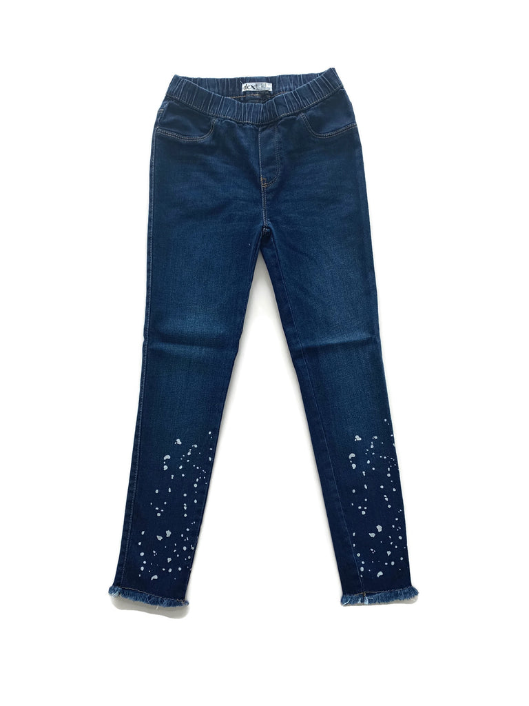 Pull on Denim with Paint Splatters