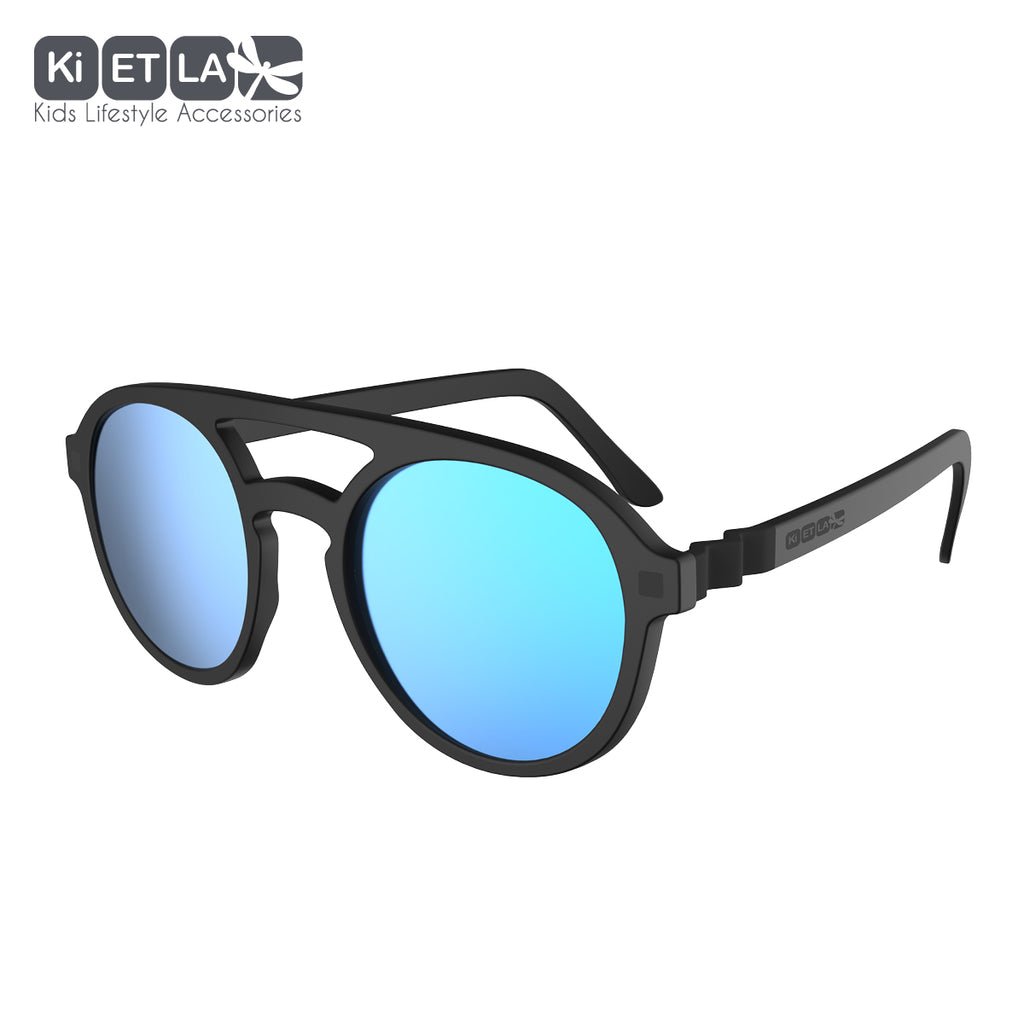 Black Crazyg-Zag Pizz Sunglasses (9-12)