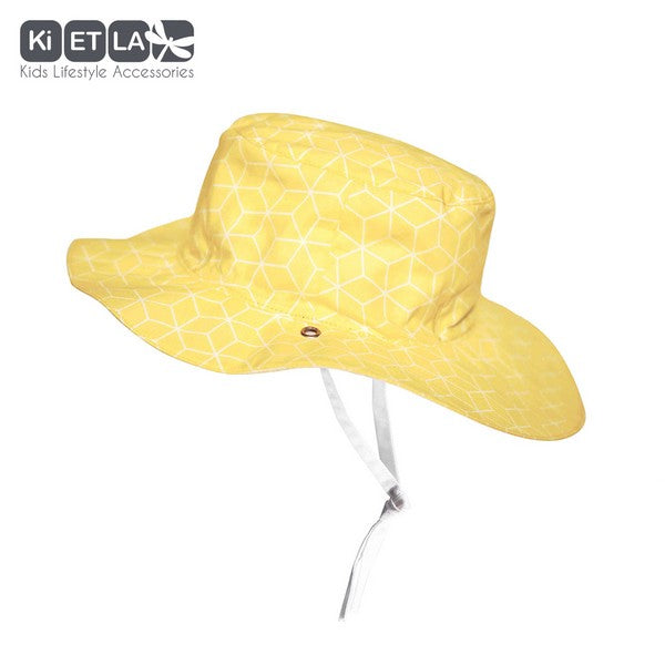 Kapel Anti-UV Reversible Sun Hat in Cubik Sun (baby sizes)