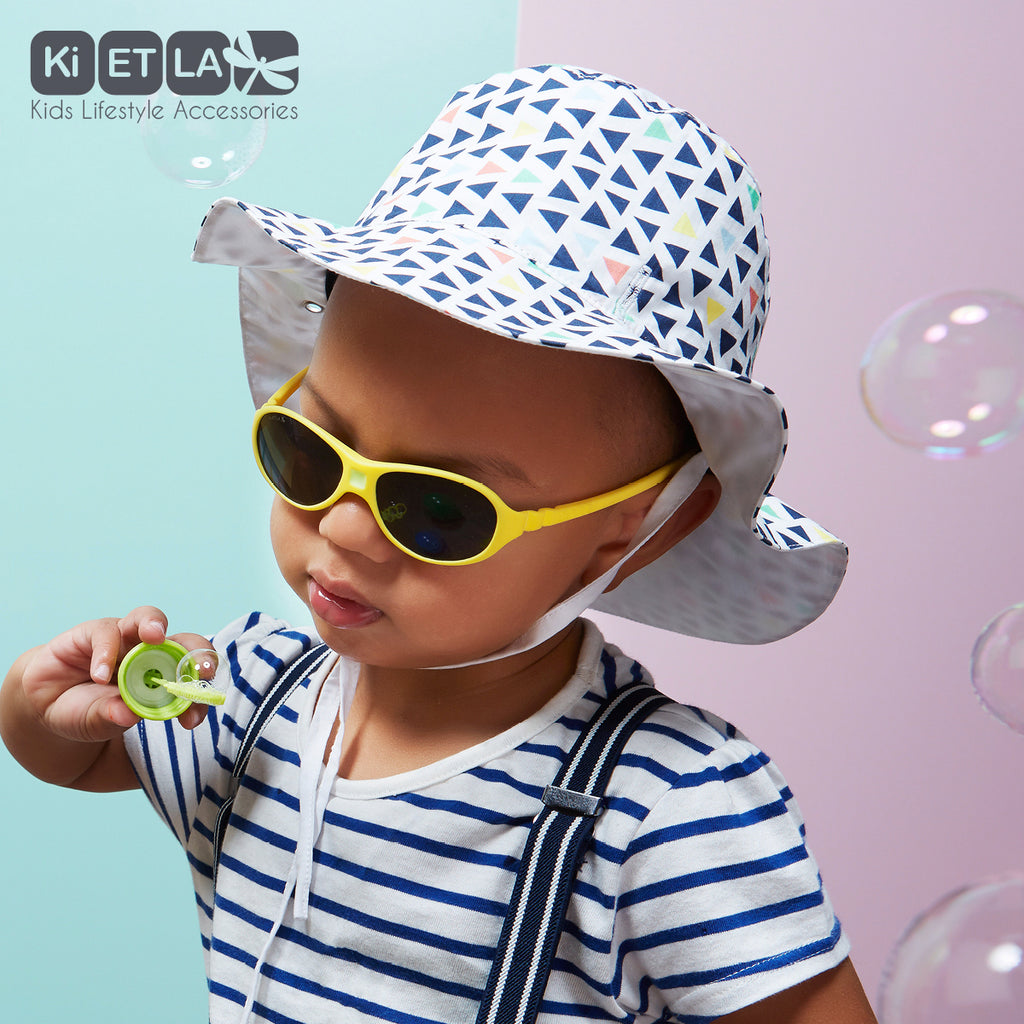 Kapel Anti-UV Reversible Sun Hat in Fun Fair (baby sizes)