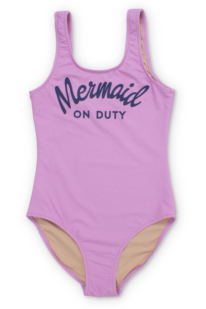 Mermaid on Duty One Piece Lilac Swimsuit