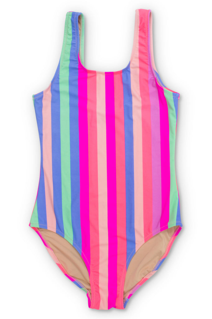 Chasing Rainbows Stripe One Piece Swimsuit