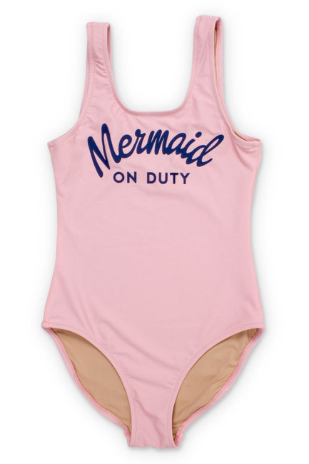 Mermaid on Duty One Piece Pink Swimsuit