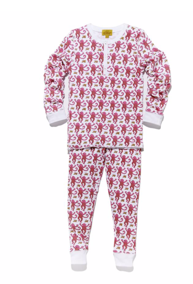 Pink Monkey Pajamas