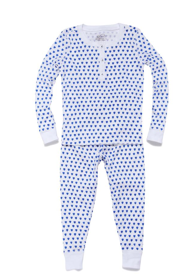 Blue Hearts Pajama