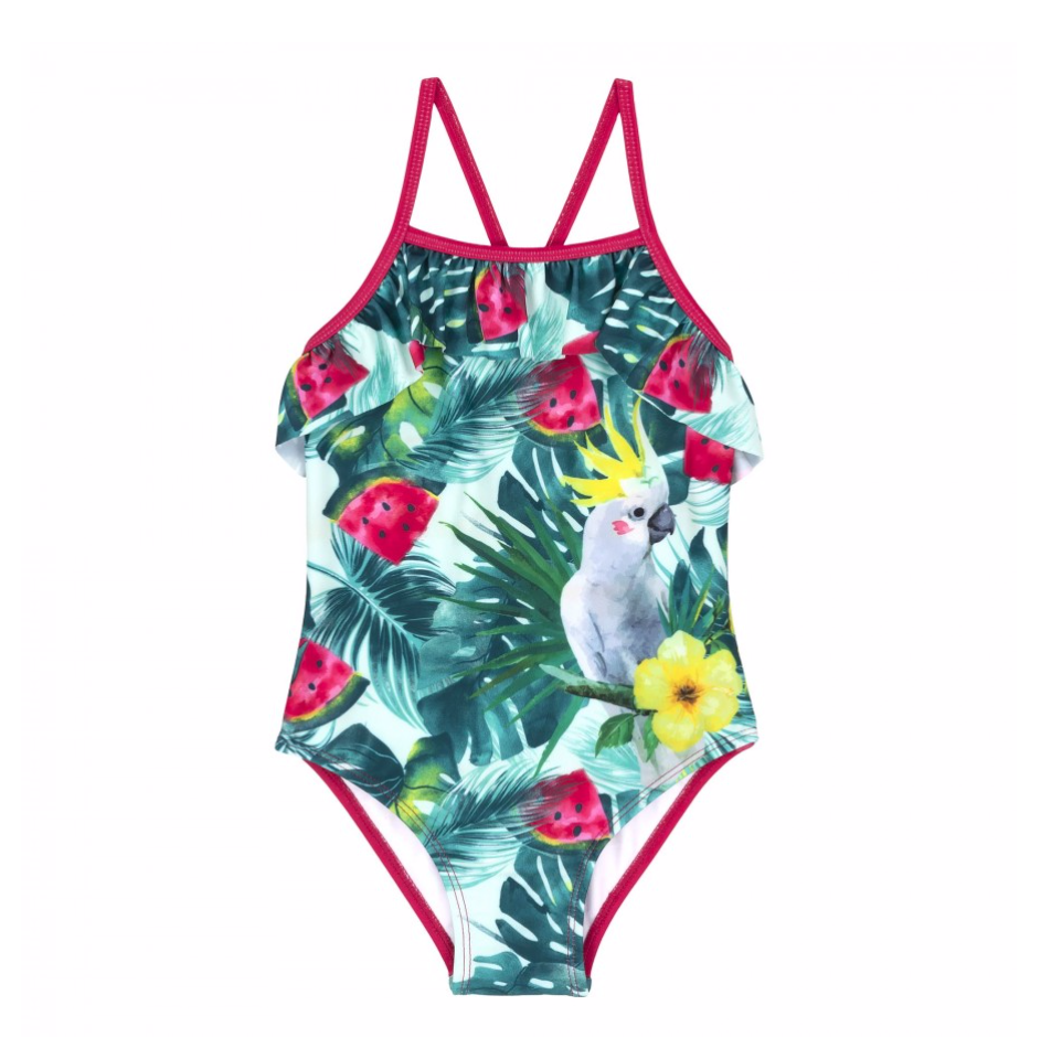 Flowers One Piece Swimsuit