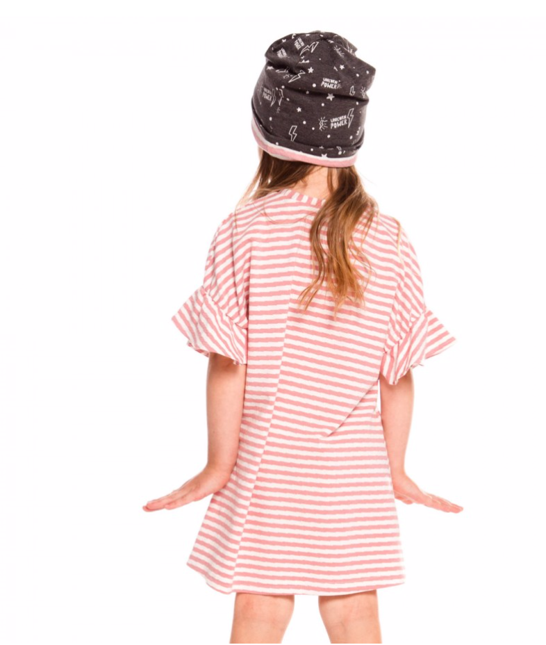 Pink Striped Oversized Dress