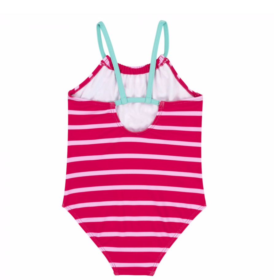 DPD Stripes and Flamingo One Piece Swimsuit