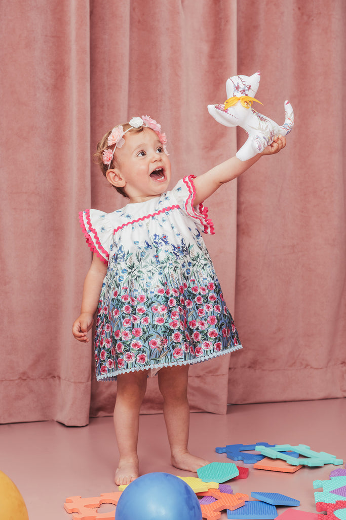 Baby Flower Dress and Bloomer Set