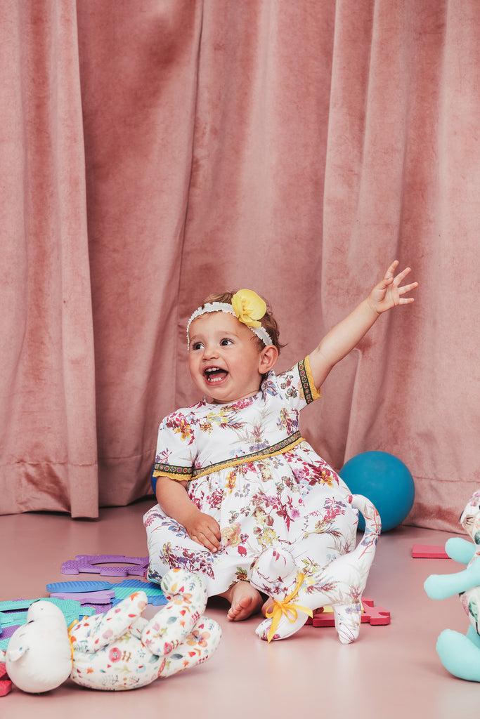Baby Floral Dress and Bloomers Set