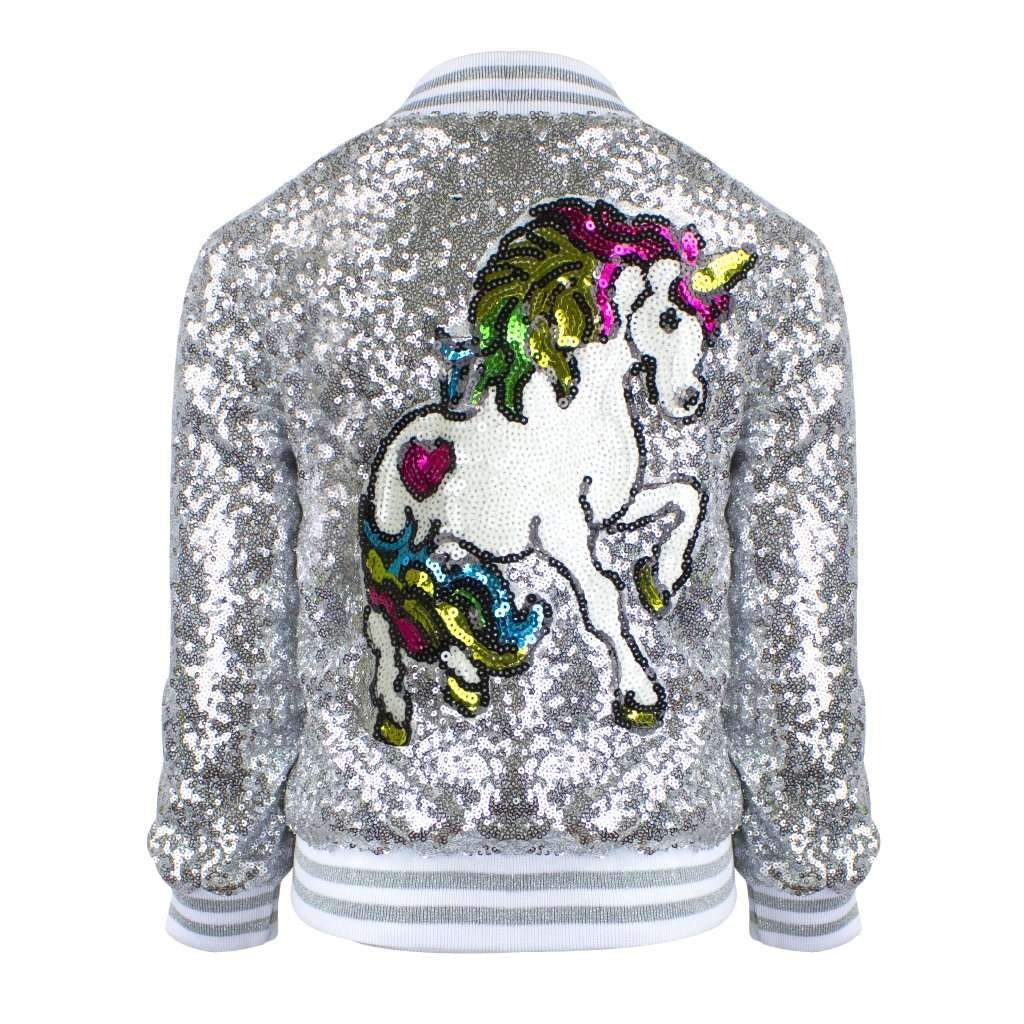 Unicorn Sequin Bomber Jacket