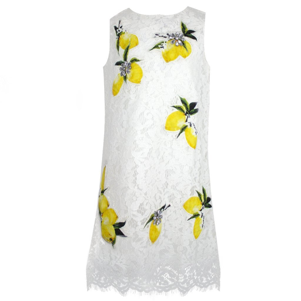Lemon Lace Dress