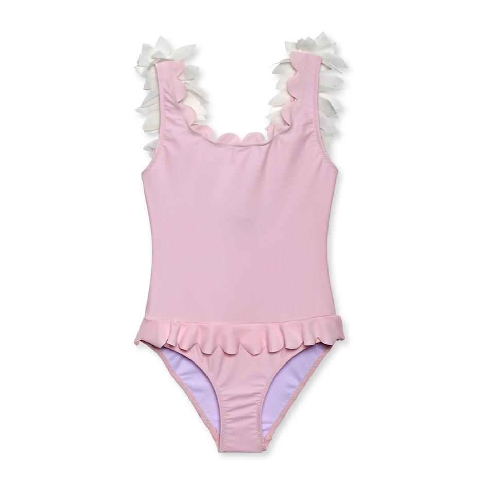 Pink and White Petals One Piece Swimsuit