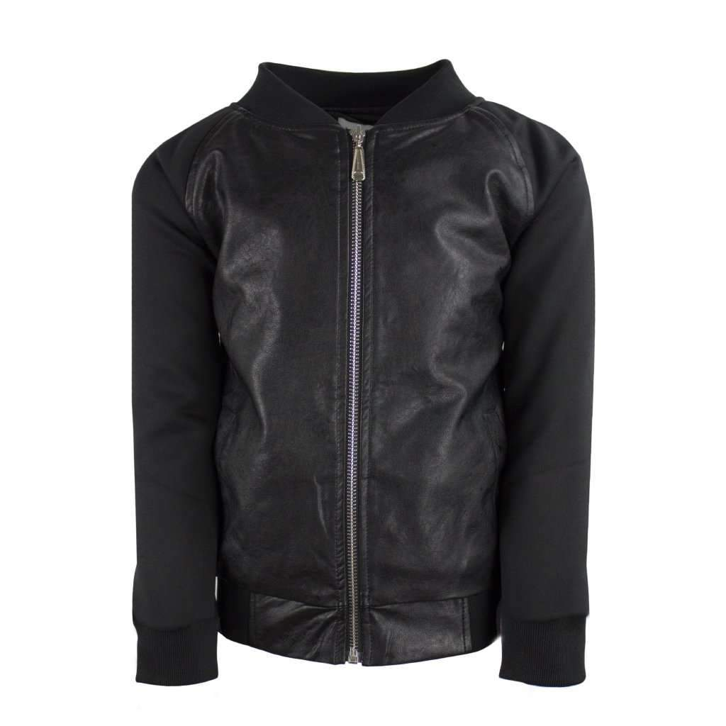 Vegan Leather Snake Bomber