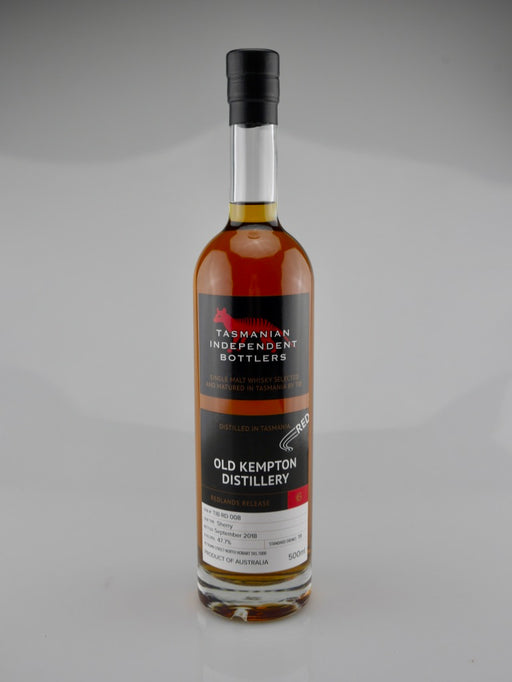 Tasmanian Independent Bottlers TIB RD 008 Sherry Cask Single Malt Whisky - Moreish Wines