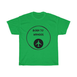 Born to Wander  T-shirt - Beeredee Irish Green / S