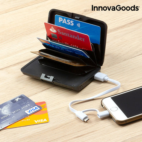 InnovaGoods Security & Power Bank Wallet - Beeredee [variant_title]