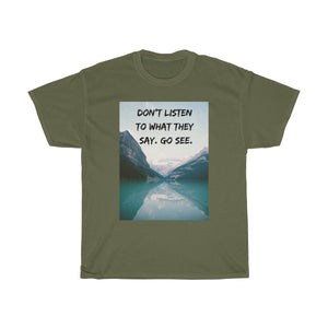 Go see T-shirt - Beeredee Military Green / S