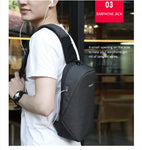 "Bronx - Anti theft Crossbody Bag/ Chest Bag/Shoulder bag - Waterproof, Fit 9.7"" IPad - Beeredee [variant_title]"