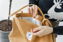 Load image into Gallery viewer, Simple - High quality  Minimalist Tote/Shoulder Bag in Corduroy - Beeredee [variant_title]