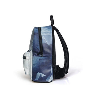 Geometric Printing Backpack for women - vegan leather (PU) - Beeredee [variant_title]