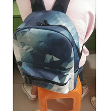 Load image into Gallery viewer, Geometric Printing Backpack for women - vegan leather (PU) - Beeredee [variant_title]