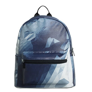 Geometric Printing Backpack for women - vegan leather (PU) - Beeredee Default Title