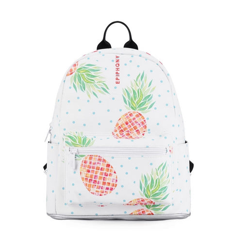 Pineapple Printing Backpack for women - vegan leather (PU) - Beeredee [variant_title]
