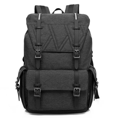 New Korean Style Backpack - Hasp & String Opening - Beeredee Black