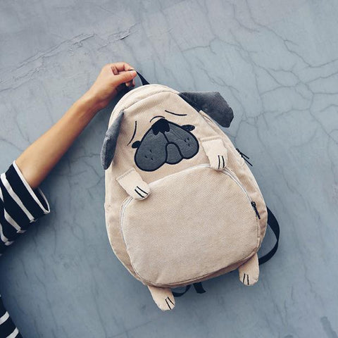Cartoon  3D Animal Backpack for Women - Beeredee Dog