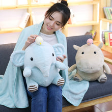 Load image into Gallery viewer, Kawaii Stuffed Animal Pillow with Blanket - Beeredee [variant_title]