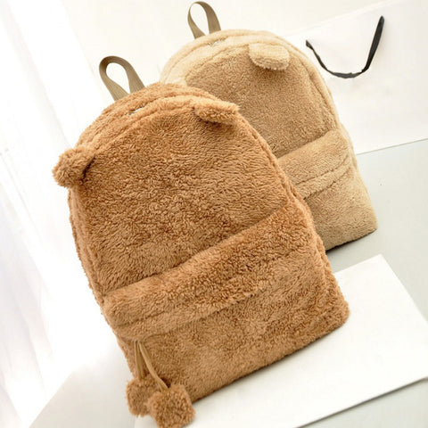 Cute fur backpack with ears - Beeredee [variant_title]