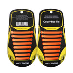 16pcs/set Adult Lazy Elastic Silicone Shoelaces - Beeredee orange