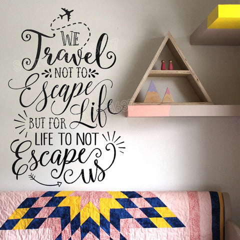 Travel Quote '' Travel not to escape'' - Beeredee [variant_title]