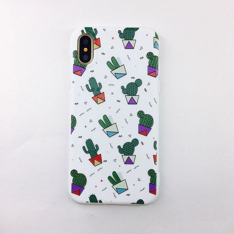 Cute cactus Iphone silicone case - Beeredee cactus 1 / for iPhone 6 6S