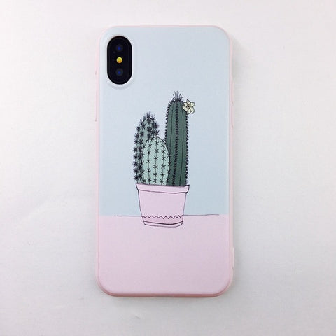 Cute cactus Iphone silicone case - Beeredee cactus 3 / for iPhone 6 6S