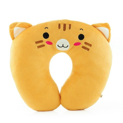 Memory Foam Neck U-Shape Pillow - Beeredee Yellow Tiger
