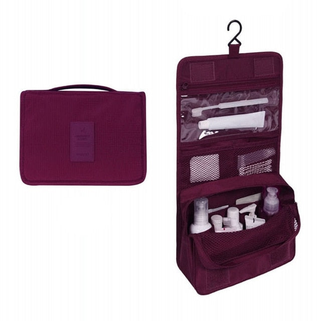 Travel Cosmetics Storage Bag  Waterproof - Beeredee burgundy