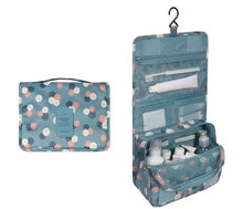 Load image into Gallery viewer, Travel Cosmetics Storage Bag  Waterproof - Beeredee light blue flowers