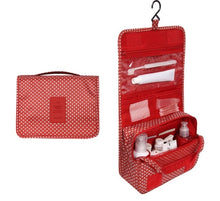 Load image into Gallery viewer, Travel Cosmetics Storage Bag  Waterproof - Beeredee red pattern