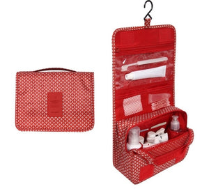Travel Cosmetics Storage Bag  Waterproof - Beeredee red pattern