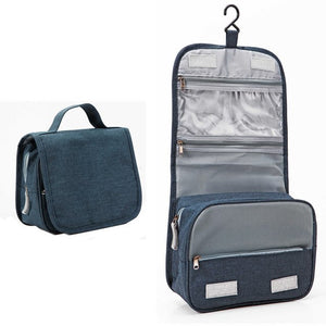 Travel Cosmetics Storage Bag  Waterproof - Beeredee luxury grey-blue