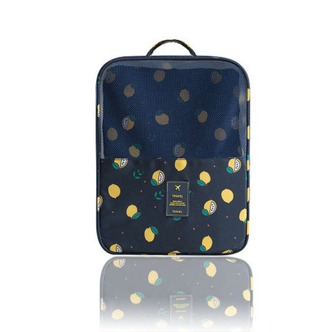 Waterproof Shoe Bag - Beeredee Lemon Navy blue