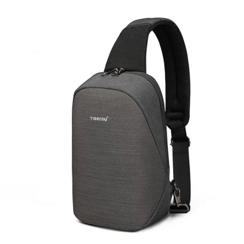 "Bronx - Anti theft Crossbody Bag/ Chest Bag/Shoulder bag - Waterproof, Fit 9.7"" IPad - Beeredee Black Grey"