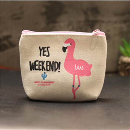 Coin Purses Wallet - Beeredee Beige One Flamingo